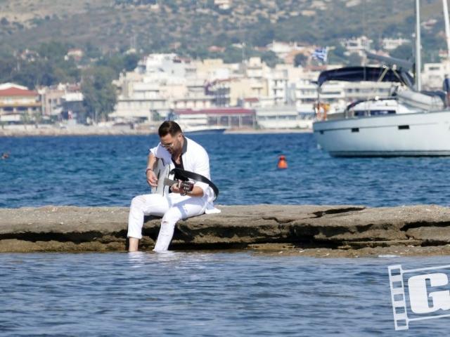 Ηλίας Βρεττός, Ούτε μέρα μακριά σου, videoclip, backstage photos